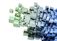 Computer virus, conceptual artwork Stock Illustration