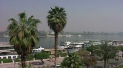 Luxor Street Nile 003 Stock Footage