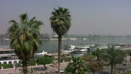 Stock Video Footage of Luxor Street Nile 003
