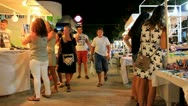 OpenAir Night Market in Gulturbuku - Bodrum, Turkey Stock Footage
