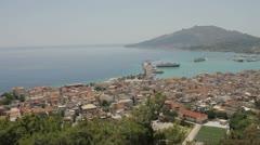 Zante Zakyntosh Greece Sea Stock Footage