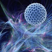 nanoparticle, artwork - stock illustration