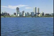 Perth, Australia, wide shot, skyline, establishing Stock Footage