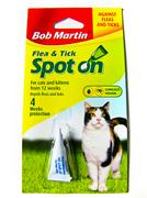 Flea and tick treatment for cats Stock Photos