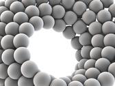 Nanospheres, artwork Stock Illustration