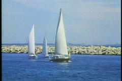 Sailboats in the harbor at Perth, Australia's. Stock Footage