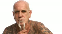 Man with tattoos dancing Stock Footage