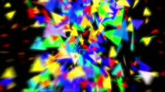 glass triangles intro - stock footage