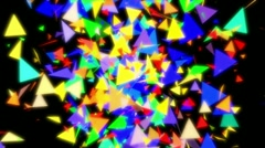 Colorful glass triangle transition or intro rotation - stock footage