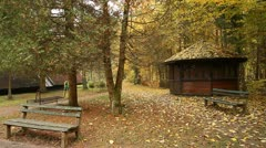 Autumn Forest House Stock Footage