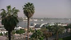 Luxor Street Nile 002 Stock Footage