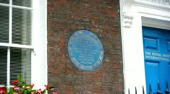 Blue plaque to William Pitt Stock Footage