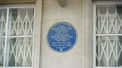 Blue plaque to Earl Mountbatten of Burma Stock Footage