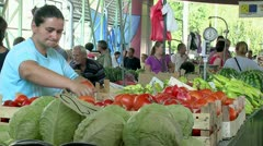 Market Place 02 - stock footage
