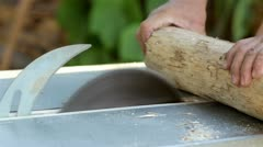 Cutting firewood Stock Footage