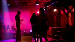 Dance party at a nightclub, slow motion Stock Footage