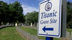Titanic Grave Site 1 Stock Footage