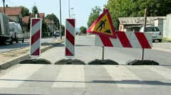 Reconstruction of the street Stock Footage