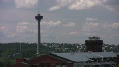 Tampere Rauhaniemi Roof Shortpan001 Stock Footage