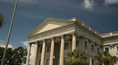 Charleston South Carolina Customs House Stock Footage