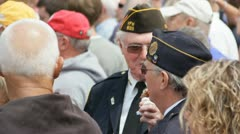 Stock Footage - Two Iowa Veterans in crowd at State Fair   HD1080p Stock Footage