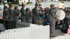 Stock Footage - US Military Band at Iowa State Fair - HD1080p - Audio Stock Footage
