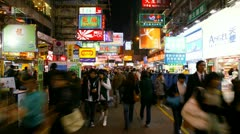 Busy walkway in Asia Stock Footage
