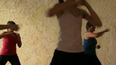 Women in an aerobics class Stock Footage
