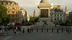 Time lapse of Trafalgar Square and the bottom of Nelson's Column Stock Footage