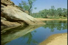 "Alice ""springs"", watering hole, medium shot, The outback of Australia Stock Footage"