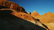 Red rock formation Stock Footage