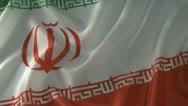 Iranian flag Stock Footage