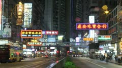 Causeway Bay, Time Lapse, Hong Kong - stock footage