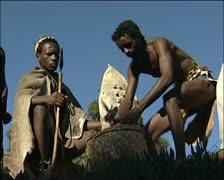 Xhosa men in traditional wear Stock Footage