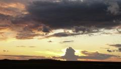 Clouds develop at sunset Stock Footage