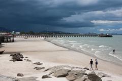 hua hin beach - stock photo