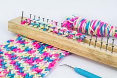 knitting board - stock photo