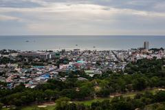 Hua Hin City Bird eye view - stock photo