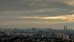 Kl sunset 1080Kuala Lumpur City, Malaysia. Timelapse in sunset. Stock Footage