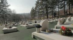 Memorial Cementery Tuzla 4 Stock Footage