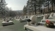 Stock Video Footage of Memorial Cementery Tuzla 4