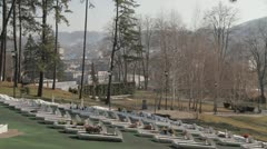 Memorial Cementery Tuzla 5 Stock Footage