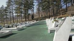 Memorial Cementery Tuzla 8 Stock Footage