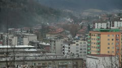 Banovici Panorama Wide Stock Footage
