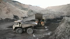 Mine Open Pit Loading Stock Footage
