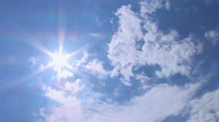 Timelapse - Clouds and Sun Stock Footage