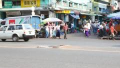 Yangon Street , Myanmar - stock footage