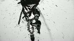 Blot stain the paper - stock footage