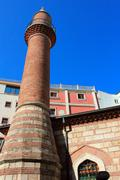 Small Brick Mosque in Taksim area of Istanbul, Turkey Stock Photos