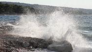 Stock Video Footage of Waves splashing the beach